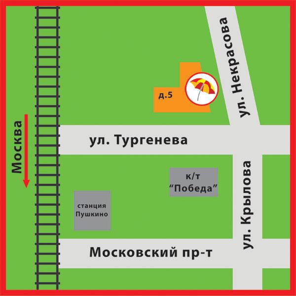 Карта схема проезда к офису