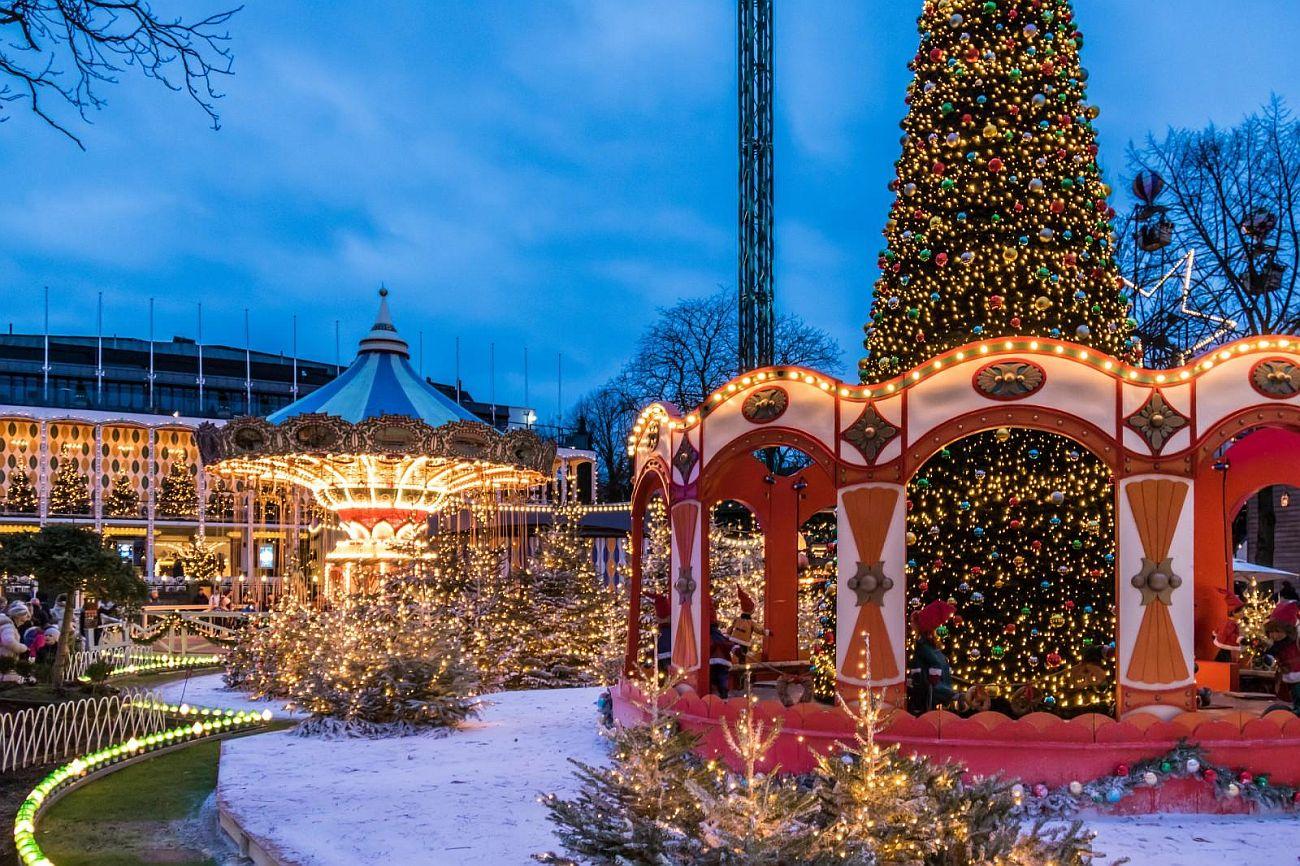 Рождественская ярмарка №13 Handlavet JuliTivoli, Копенгаген, Дания