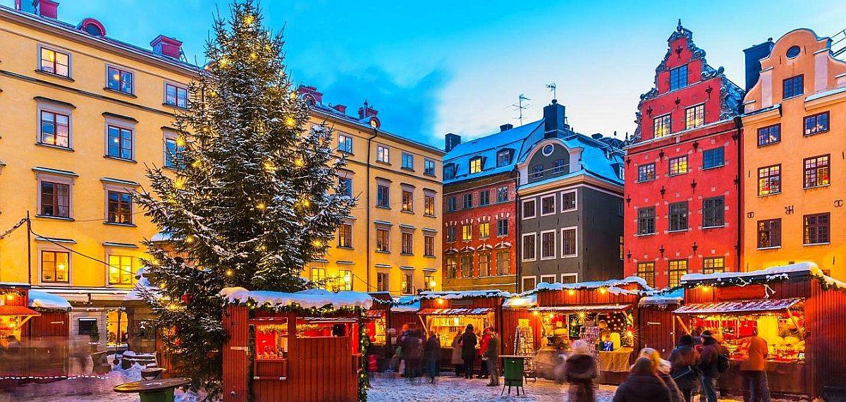 Рождественская ярмарка №11 Stortorgets Julmarknad, Стокгольм, Швеция