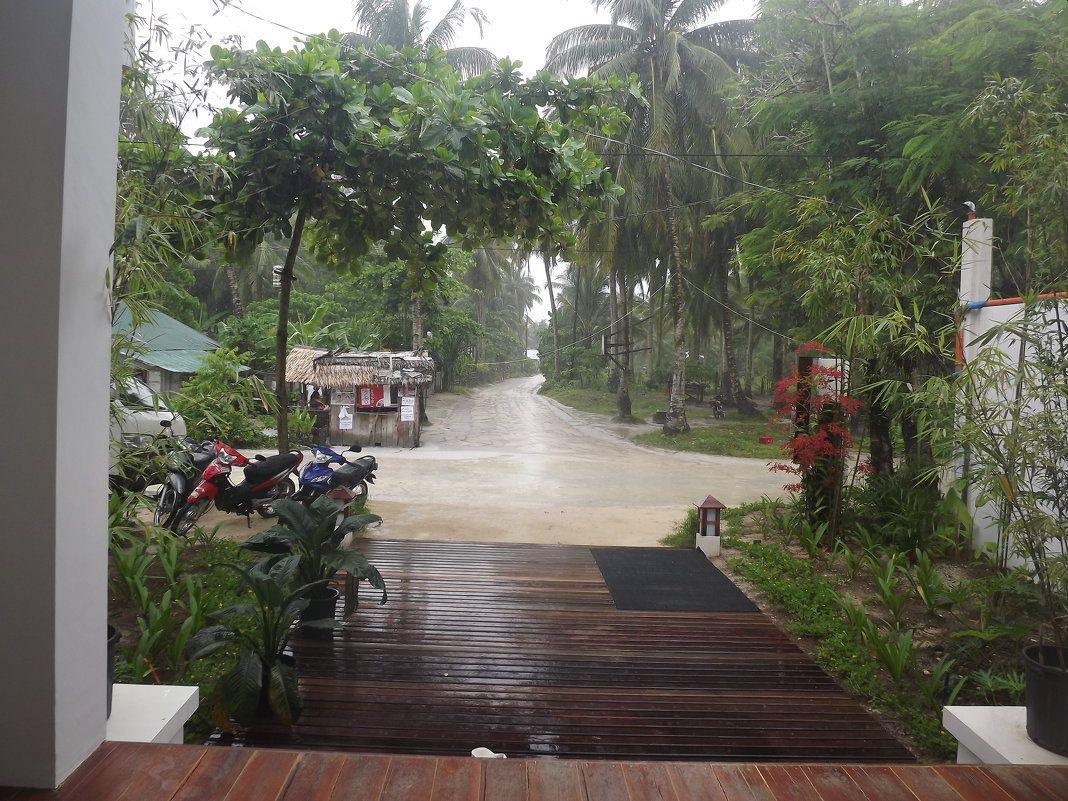 Клик для увеличения. Обычный летний дождь в июле.